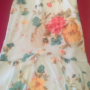 Ladies fish tail floral skirt New Elastic waist
